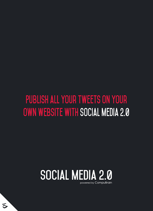 :: Publish all your #Tweets on your website with Social Media 2.0 ::  #sm2p0 #contentstrategy #SocialMediaStrategy #DigitalStrategy #SocialMediaTools #SocialMediaTips #FutureOfSocialMedia