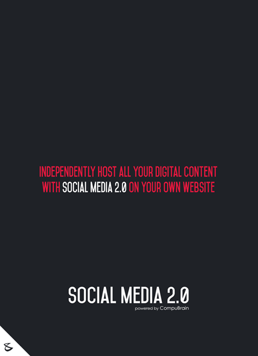 Independently host all your digital content with Social Media 2.0 on your own website  #sm2p0 #contentstrategy #SocialMediaStrategy #DigitalStrategy #SocialMediaTools #SocialMediaTips #FutureOfSocialMedia
