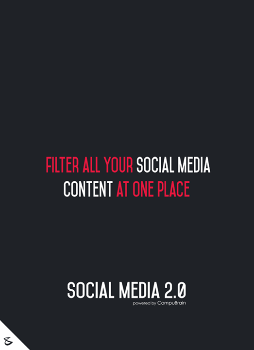 :: Filter all your Social Media Content at one place ::  #sm2p0 #contentstrategy #SocialMediaStrategy #DigitalStrategy #SocialMediaTools #SocialMediaTips #FutureOfSocialMedia