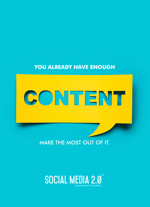 Make the most of your #digitalcontent with Social Media 2.0  #SocialMedia2p0 #DigitalConsolidation #CompuBrain #sm2p0 #contentstrategy #SocialMediaStrategy #DigitalStrategy
