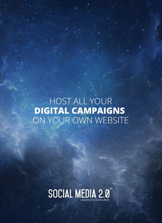 Host all your #DigitalCampaigns on your website!  #Consolidation #SocialMedia #SocialMedia2p0 #DigitalConsolidation #CompuBrain #sm2p0 #contentstrategy #SocialMediaStrategy #DigitalStrategy