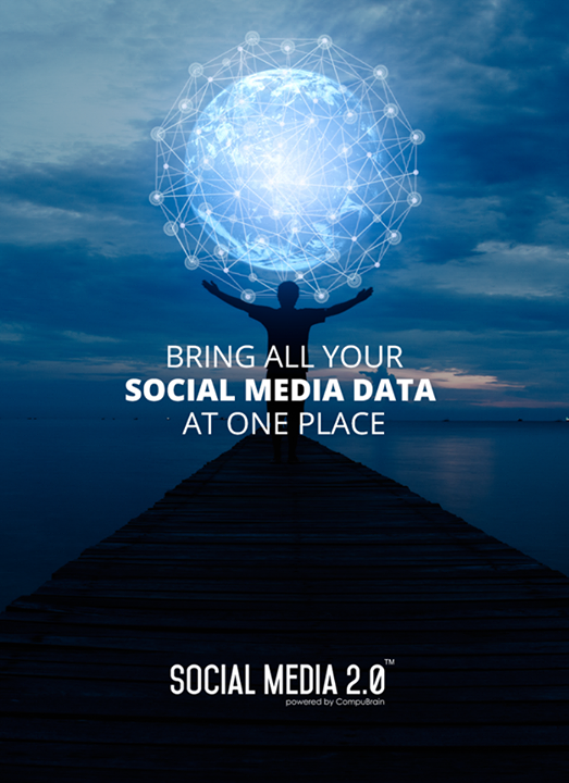 A L L your social media DATA at one place!  #Consolidation #SocialMedia #SocialMedia2p0 #DigitalConsolidation #CompuBrain #sm2p0 #contentstrategy #SocialMediaStrategy #DigitalStrategy