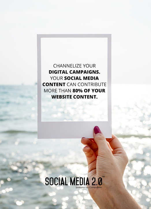 Channelize your #DigitalCampaigns through Social Media 2.0!  #SocialMedia #SocialMedia2p0 #DigitalConsolidation #CompuBrain #sm2p0 #contentstrategy #SocialMediaStrategy #DigitalStrategy
