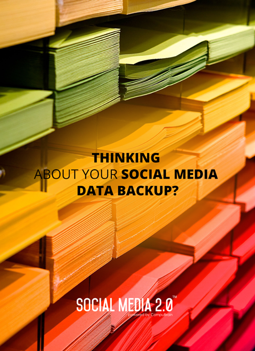 Thinking about your #SocialMedia back-up? Think about Social Media 2.0!  #SocialMedia #SocialMedia2p0 #DigitalConsolidation #CompuBrain #sm2p0 #contentstrategy #SocialMediaStrategy #DigitalStrategy