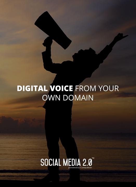 Your **Digital Voice** from your #Domain!  #SocialMedia #SocialMedia2p0 #DigitalConsolidation #CompuBrain #sm2p0 #contentstrategy #SocialMediaStrategy #DigitalStrategy