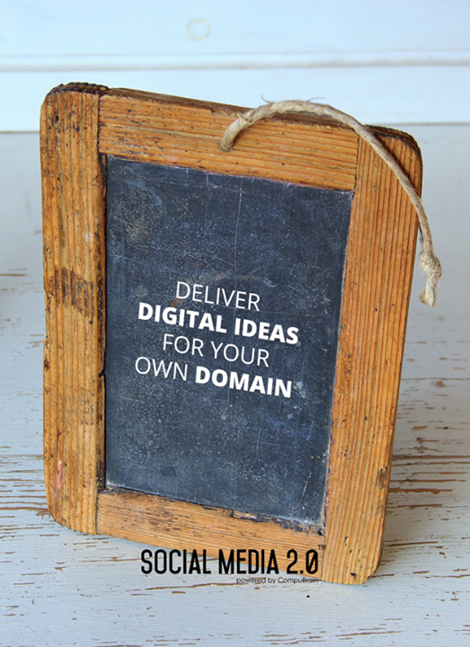 Deliver Digital Ideas for your own domain.  #SocialMedia2p0 #sm2p0 #contentstrategy #SocialMediaStrategy #DigitalStrategy