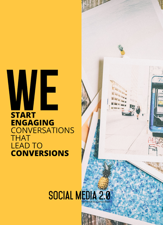 Engaging conversations leading to conversions!  #SocialMedia2p0 #sm2p0 #contentstrategy #SocialMediaStrategy #DigitalStrategy