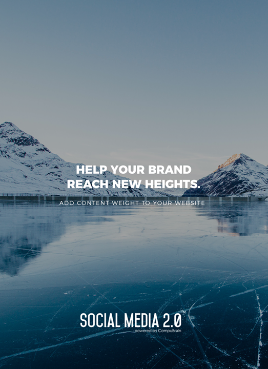 Help your brand reach new heights!  #SocialMedia2p0 #sm2p0 #contentstrategy #SocialMediaStrategy #DigitalStrategy