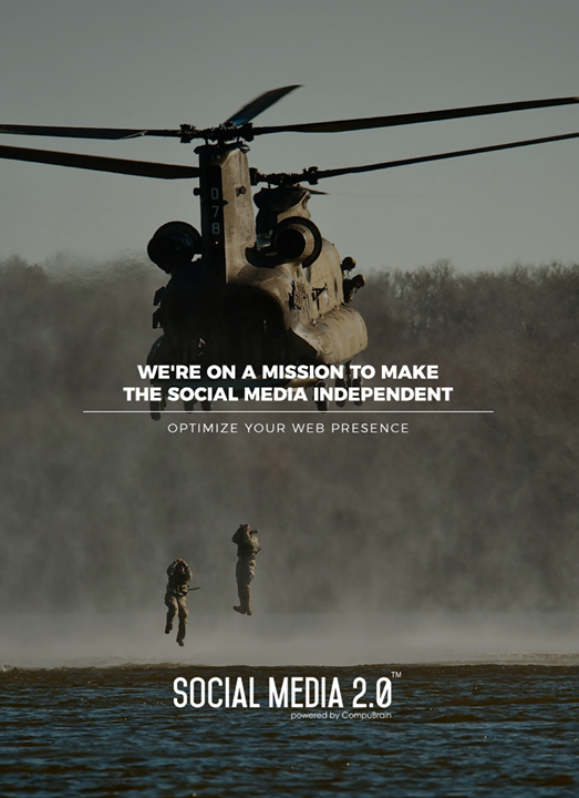 We're on a #mission to make the Social Media independent   #SearchEngineOptimization #SocialMedia2p0 #sm2p0 #contentstrategy #SocialMediaStrategy #DigitalStrategy #DigitalCampaigns