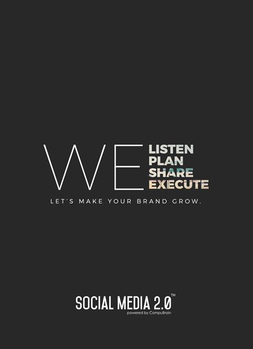 We Listen, We Plan, We Share, We Execute  #SearchEngineOptimization #SocialMedia2p0 #sm2p0 #contentstrategy #SocialMediaStrategy #DigitalStrategy #DigitalCampaigns