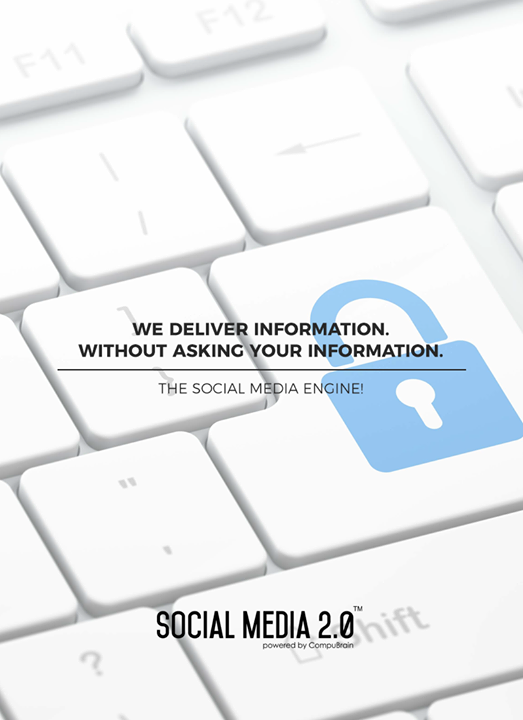 We deliver information. Without asking your information.  #SearchEngineOptimization #SocialMedia2p0 #sm2p0 #contentstrategy #SocialMediaStrategy #DigitalStrategy #DigitalCampaigns