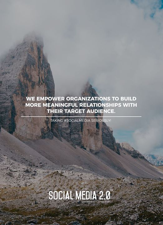 We empower organizations to build more meaningful relationships with their target audience.  #SearchEngineOptimization #SocialMedia2p0 #sm2p0 #contentstrategy #SocialMediaStrategy #DigitalStrategy #DigitalCampaigns