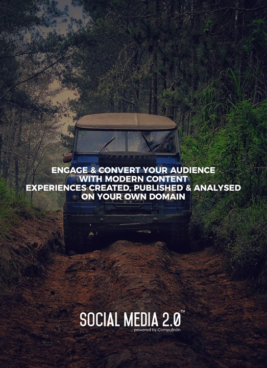 Engage & convert your audience with modern content experiences created, published & analysed on your own domain  #SearchEngineOptimization #SocialMedia2p0 #sm2p0 #contentstrategy #SocialMediaStrategy #DigitalStrategy #DigitalCampaigns