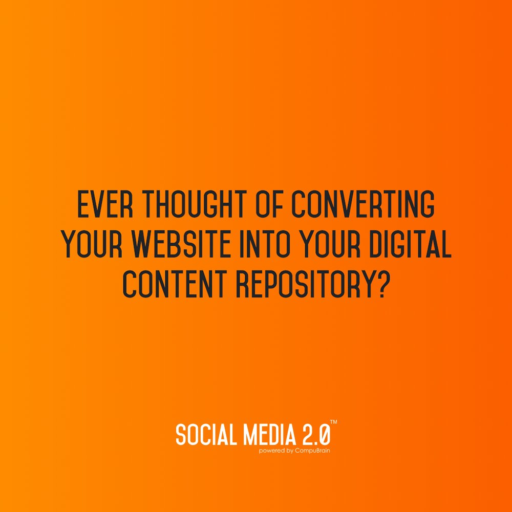 YES! You can. With the help of Social Media 2.0 - https://t.co/oC7vAJYr6u   #SocialMedia #SocialMedia2p0 #SM2p0 #ContentStrategy #contentmanagement #SEO https://t.co/K8EDBpAfay