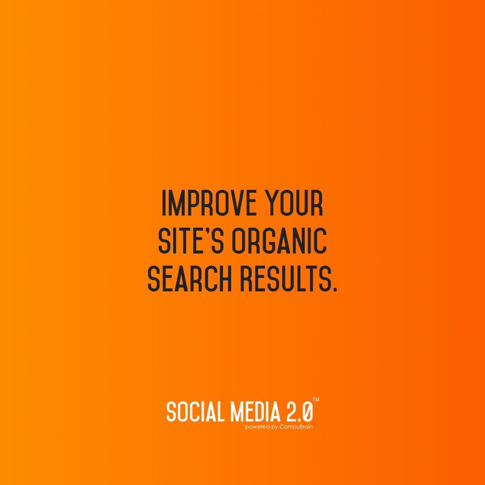 Improve Your Site's Organic Search Results   With @SM2p0 -> https://t.co/oC7vAJYr6u  #SocialMedia #SocialMedia2p0 #ContentStrategy #SearchEngineOptimization #SMM https://t.co/SypUtPe3Dq