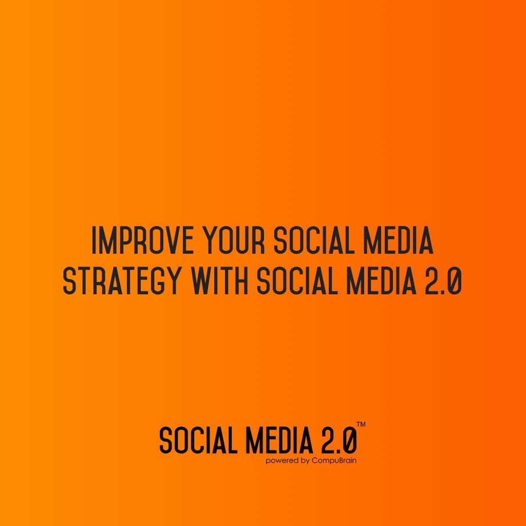 Improve Your Social Media Strategy with Social Media 2.0: https://t.co/oC7vAJYr6u  #SocialMedia2P0 #SMM #SearchEngineOptimization #Marketing #MarketingStrategy #ContentStrategy https://t.co/KR5mCdV4WA