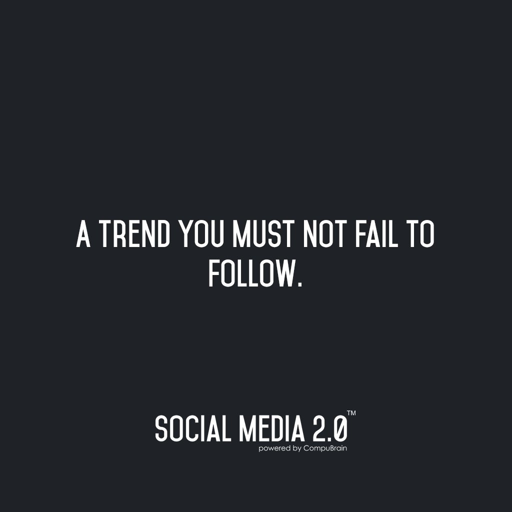 A Trend You Must Not Fail to Follow.  And That Trend is Social Media 2.0 -> https://t.co/oC7vAJYr6u  #SocialMedia2p0 #SocialMedia #contentstrategy #Content #socialmediastrategy #SMM https://t.co/j0BS0UkbEV