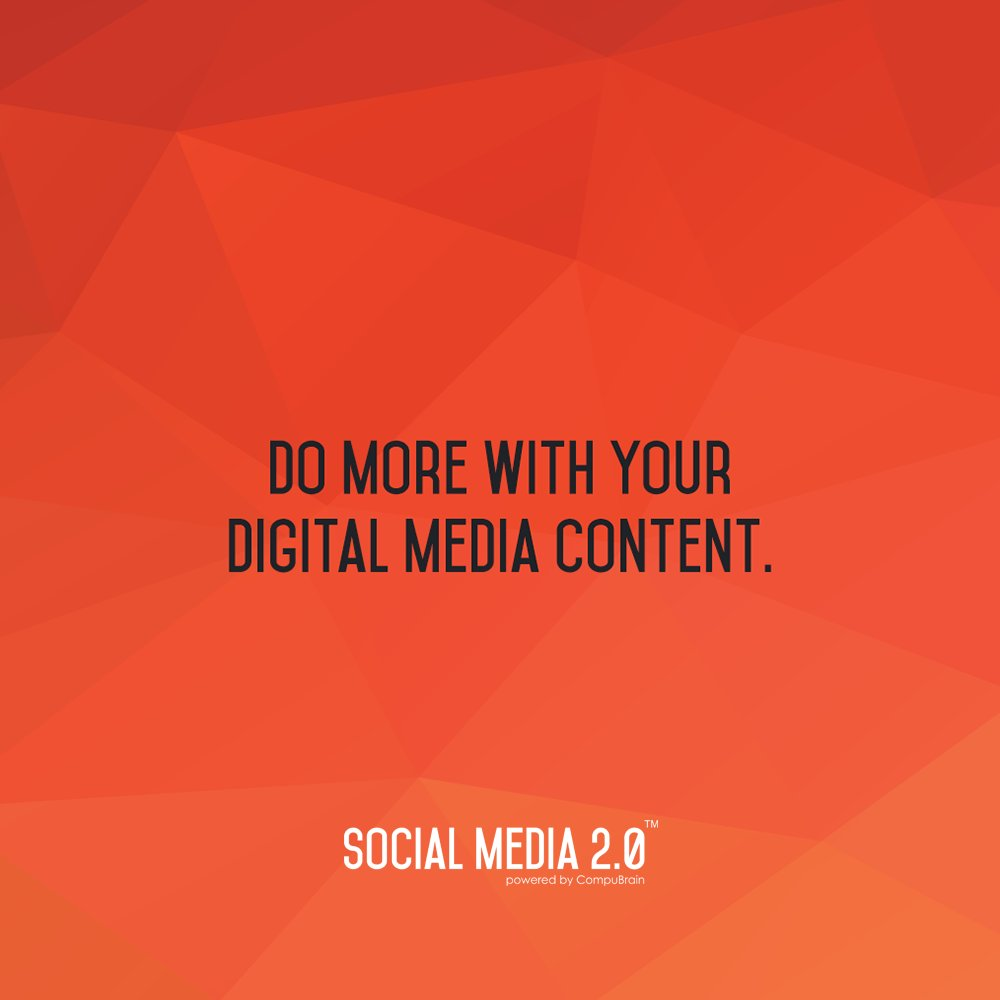 Do more with your digital media content!   #ContentStrategy #socialmediastrategy #SocialMediaContent #DigitalMarketing #Marketing #Content #SearchEngineOptimization https://t.co/sL0sHhLsha