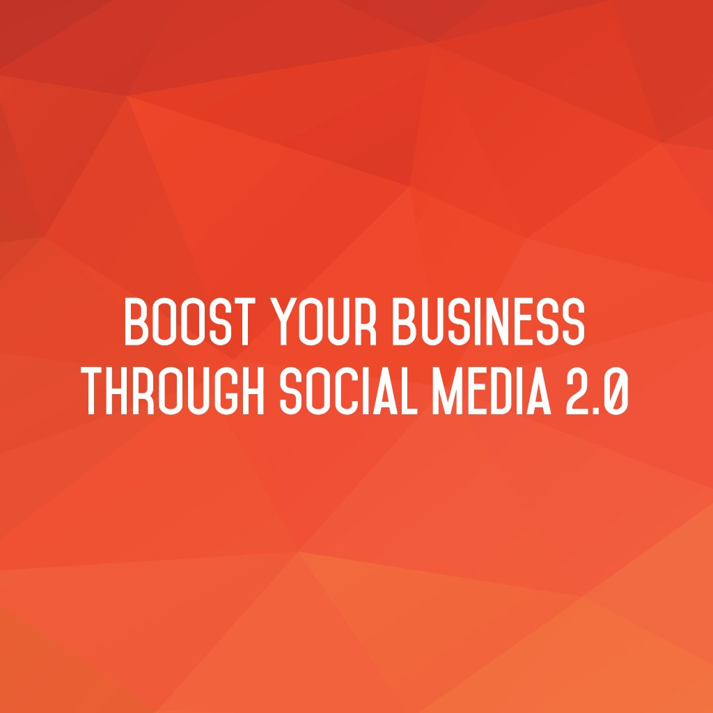 :: Boost your business through Social Media 2.0 ::  #sm2p0 #SocialMediaTools #SocialMediaTips #FutureOfSocialMedia https://t.co/y8wggw0p4P