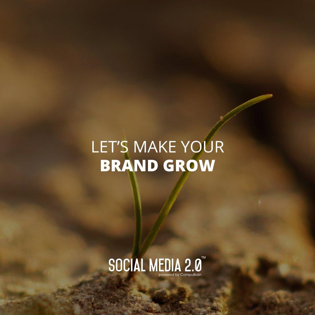 Let's make your brand grow.  #SocialMedia2p0 #sm2p0 #contentstrategy #SocialMediaStrategy #DigitalStrategy https://t.co/Rqm0WuXey4