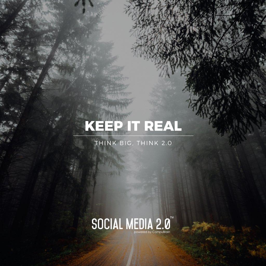 Keep it real.  #SocialMedia2p0 #sm2p0 #contentstrategy #SocialMediaStrategy #DigitalStrategy https://t.co/OZgM2n7zUY