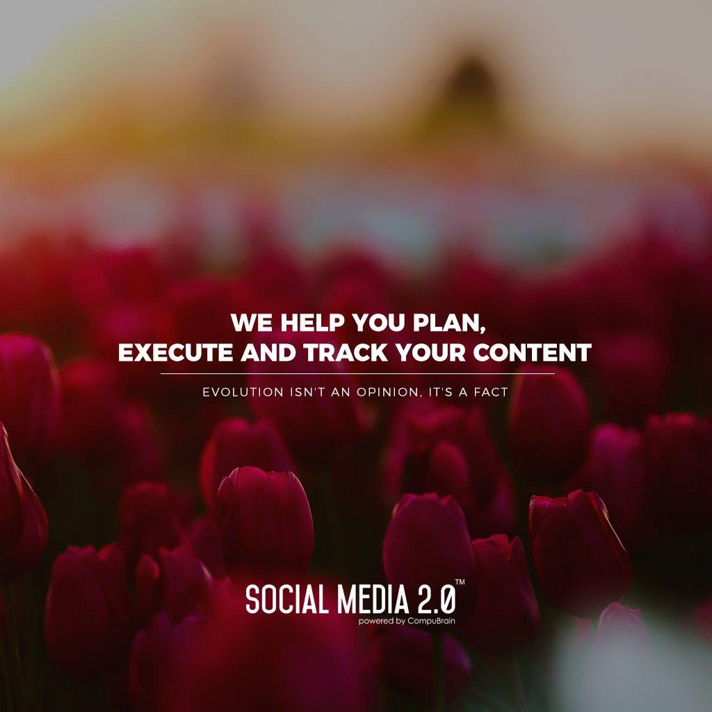 Plan | Execute | Track your content!  #SocialMedia2p0 #sm2p0 #contentstrategy #SocialMediaStrategy #DigitalStrategy https://t.co/ZPlhJ8k49W